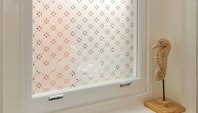 Patterned glass windows