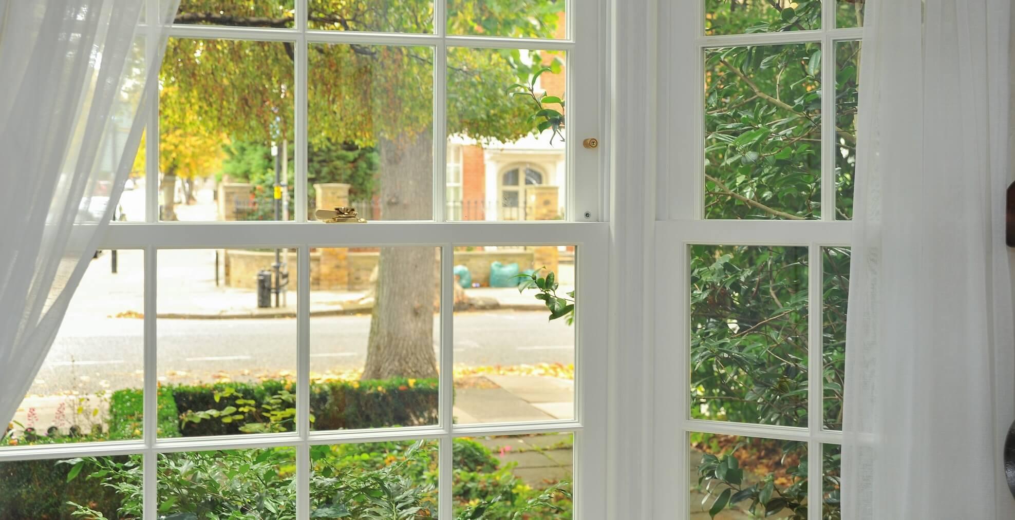 London Timber Bay Sash Window
