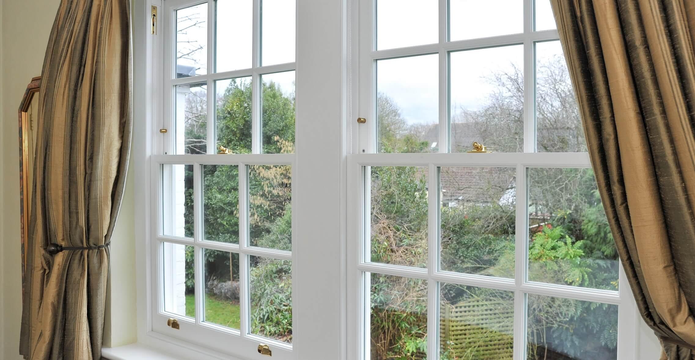 6 over 6 sash windows