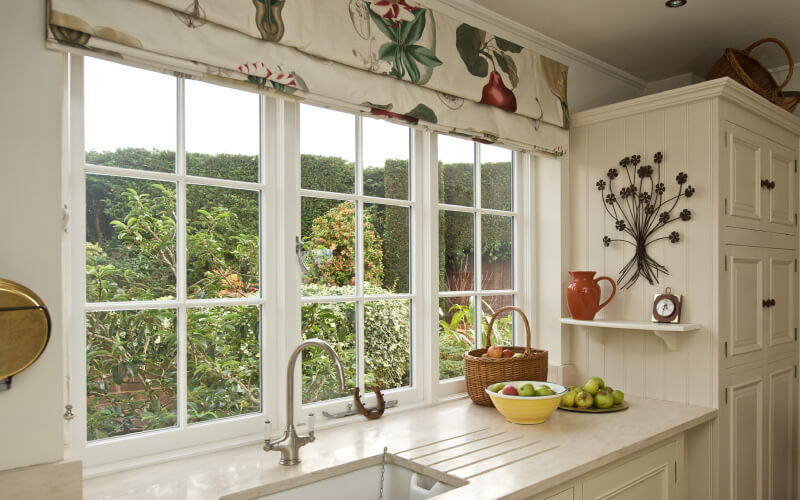 Wooden casement windows