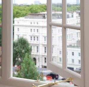 London wooden casement window