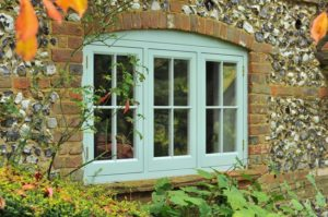 New wooden casement window