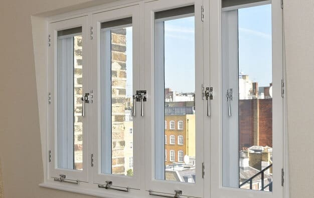 Casement window wooden secondary glazing