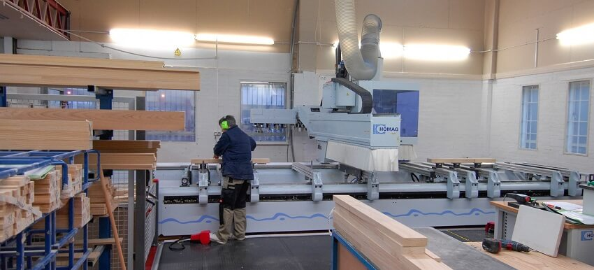 CNC machine timber windows