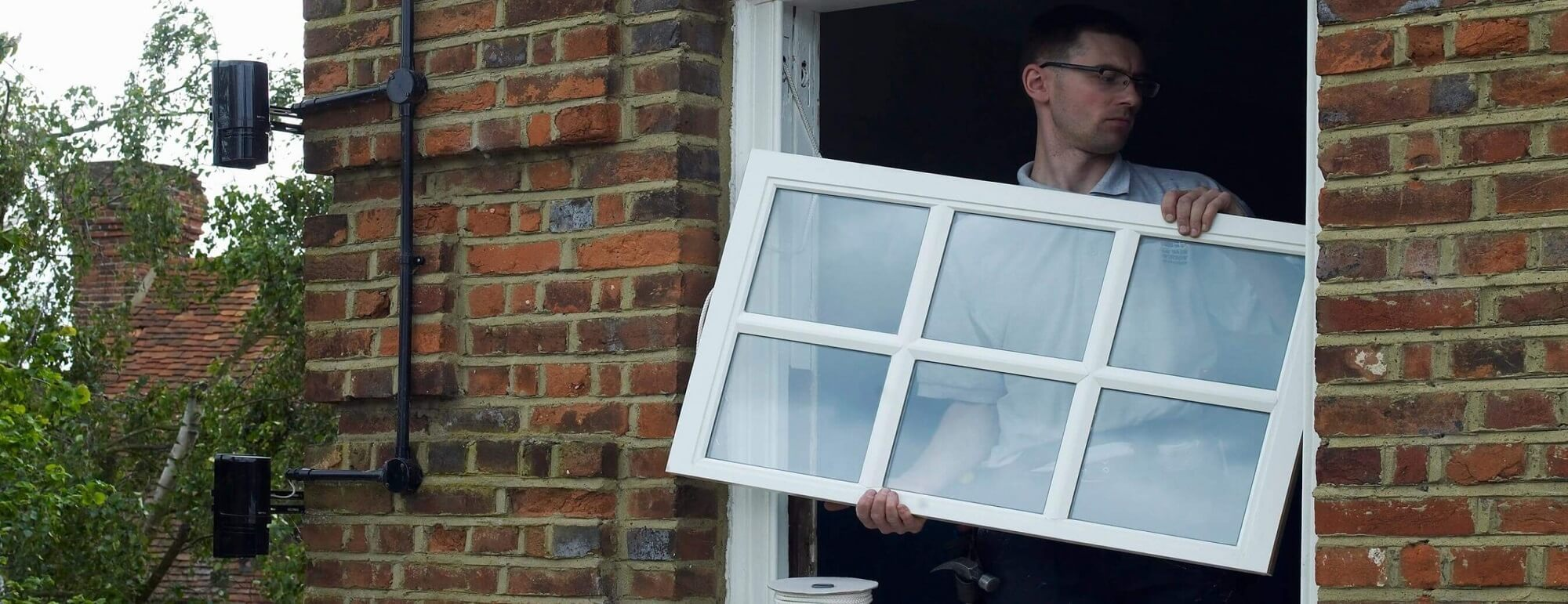 Sash window installer