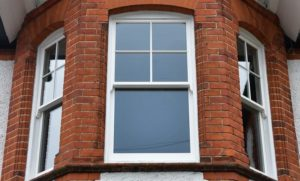 4 over 1 sash window bay