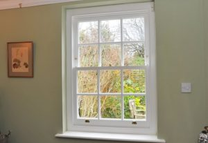 6 over 6 timber sash window