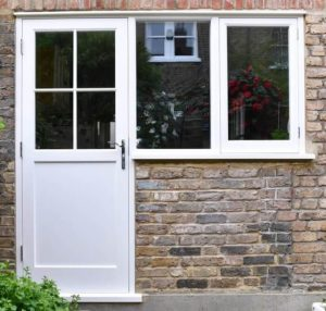 External Timber Door and Side Window