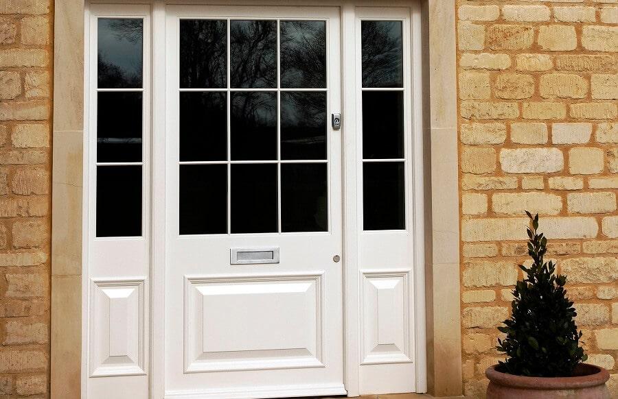 Wooden Front Door Side Panels