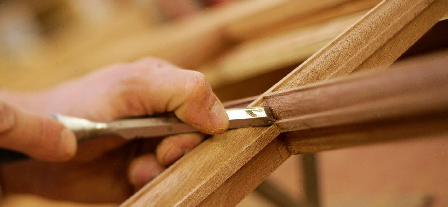 Timber window craftsman header