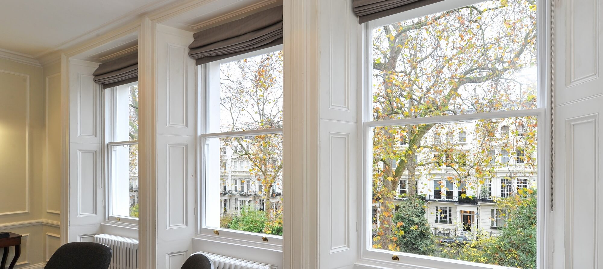 London sash window header