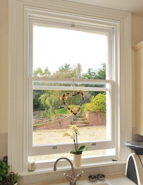 Wooden sash window Berkshire