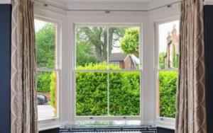 Wooden Bay Sash Window