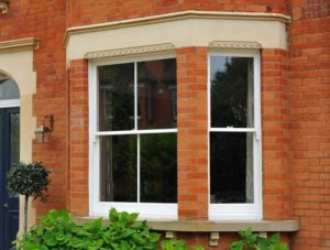 Accoya bay sash window