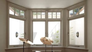 Edwardian casement bay window