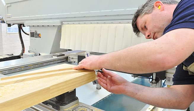 Timber window manufacture