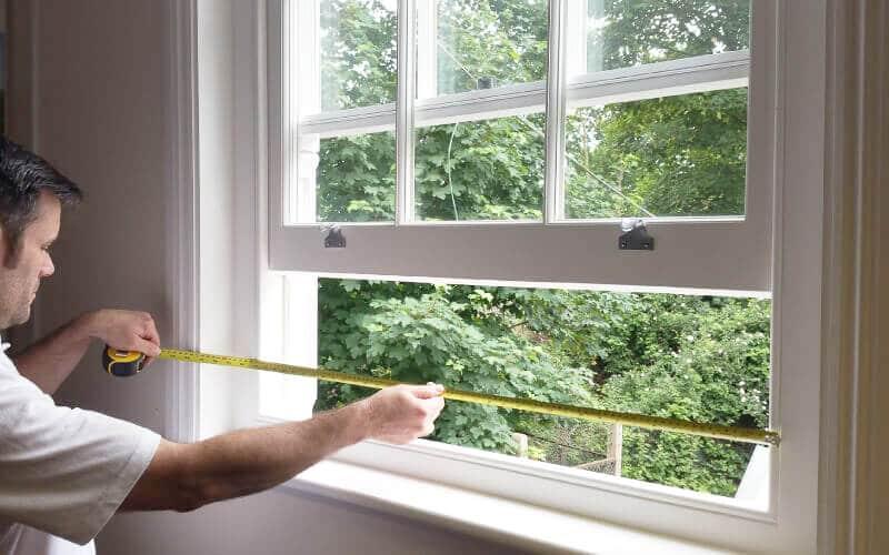 Measuring timber sash windows
