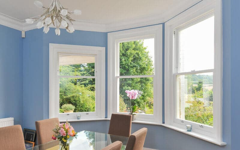 Bespoke wooden sash windows