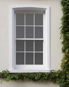 6 over 6 Georgian sash window