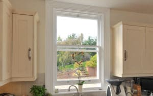 Open sash window