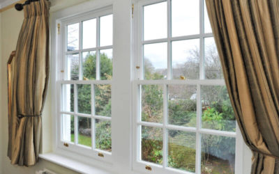 What does a traditional sash window look like?