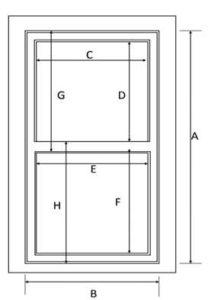 how to measure sash windows
