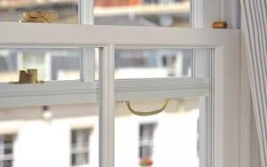 Wooden sash window closeup