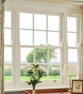 Venetian sash window